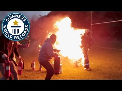 Longest distance run full-body burn - Guinness World Records