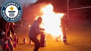 Longest distance run on fire! - Guinness World Records