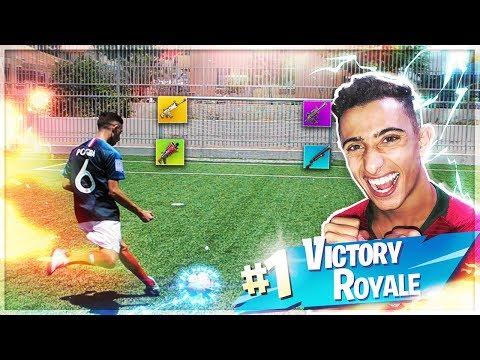אתגר הנשקים של פורטנייט בכדורגל!