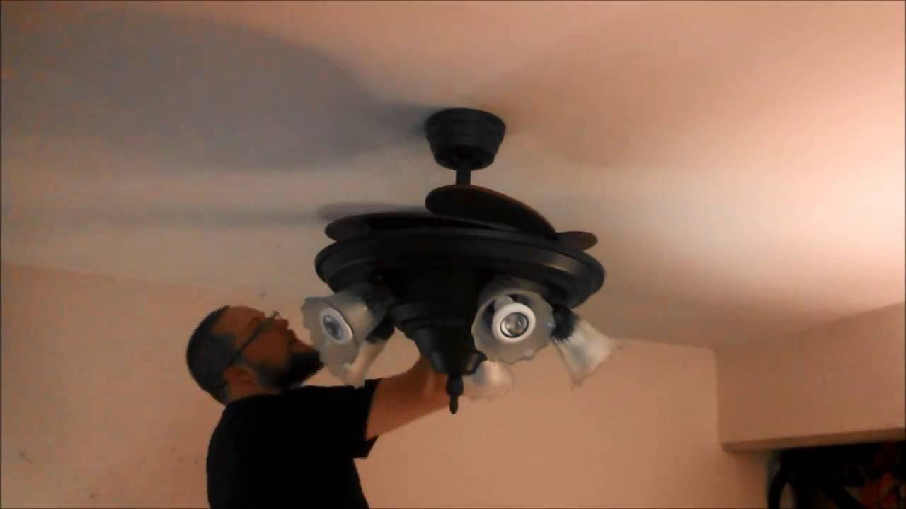 Removing An Island Fans Plantation Ceiling Fan Installing A Fanimation Air Shadow Sped Up You