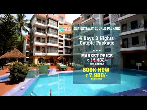 Goa Getaway Couple Package Part Pay now Rs. 980, balance 7000 at the hotel
