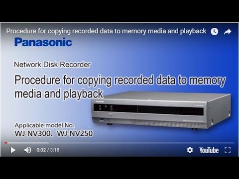 Procedure for copying recorded data to memory media and playback
