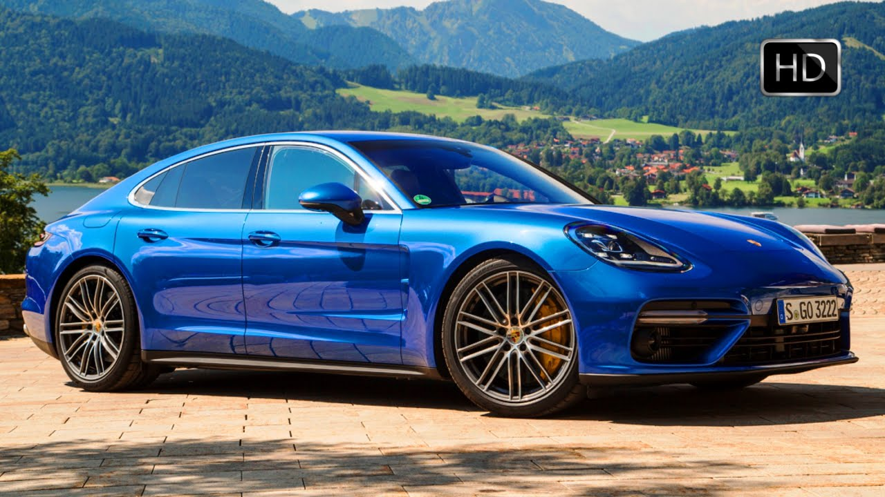 2017 porsche panamera turbo sapphire blue metallic ext int design road drive hd youtube
