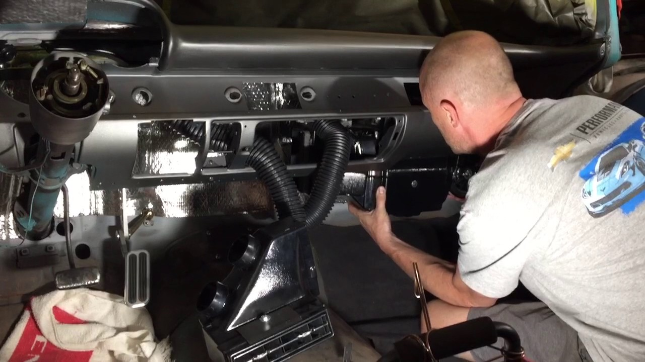 1957 Chevy Vintage Air A C Install Youtube