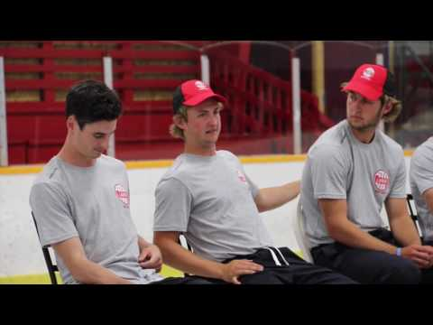 Question-and-Answer session at the Larkin Hockey School