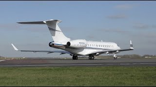 The Best Business Jet Ever! Short fast powerful takeoff Flight to Bern Bombardier Global Express
