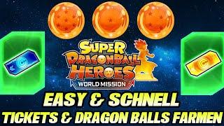 Easy & schnell Tickets UND Dragon Balls bekommen! 😎 In Super Dragon Ball Heroes World Mission!