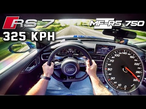 Audi RS7 750 HP AUTOBAHN POV 325 km/h ACCELERATION \u0026 TOP SPEED by AutoTopNL