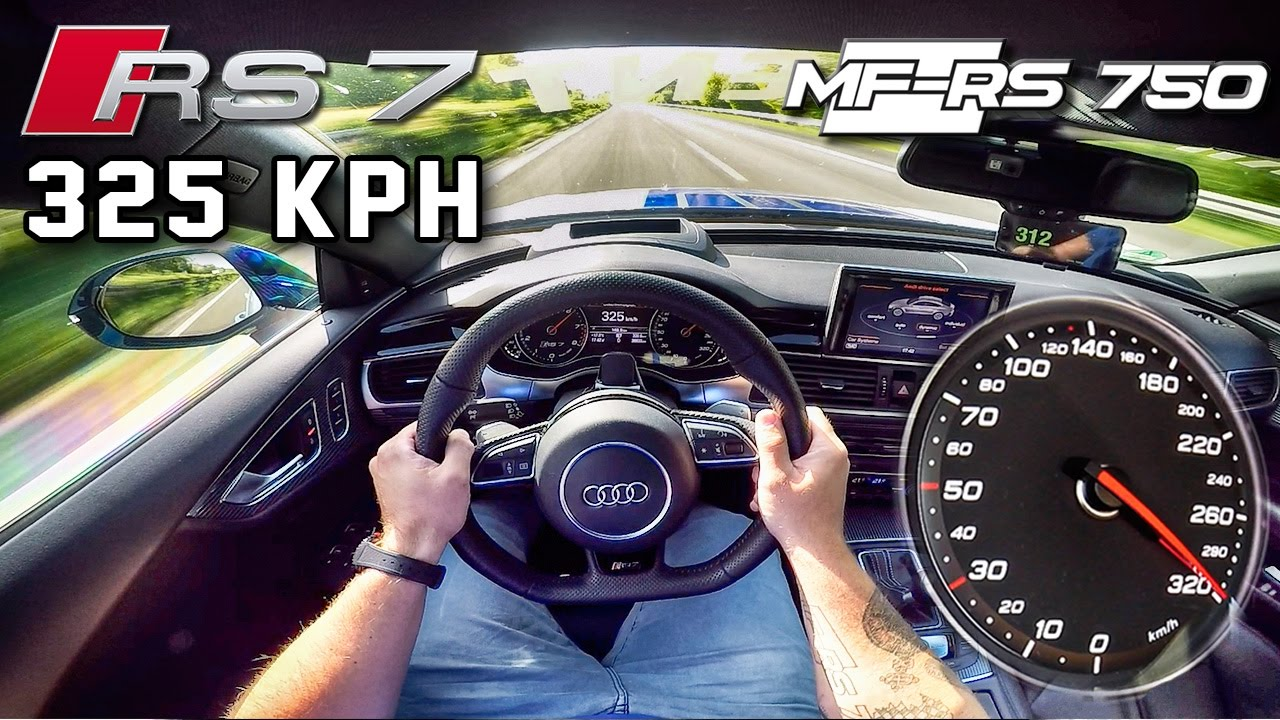 Audi Rs7 750 Hp Autobahn Pov 325 Km H Acceleration Top Speed By Autotopnl