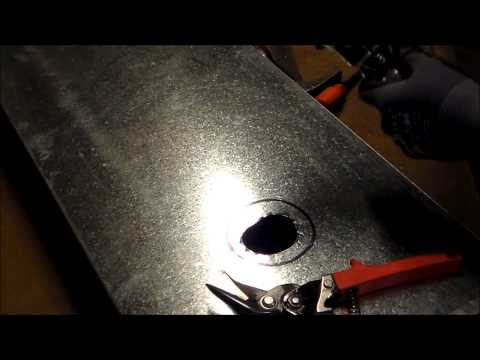 how-to-cut-a-round-hole-in-sheet-metal-with-tin-snips-or-avaiation-snips-part-2--the-sheet-metal-kid