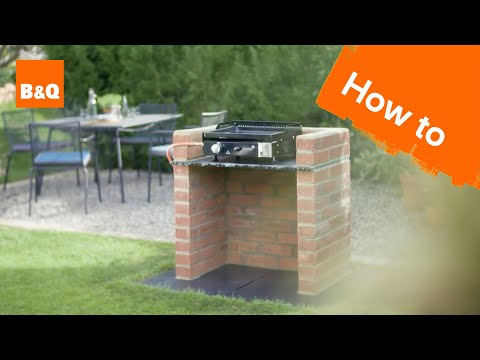 How to build a brick barbecue platform