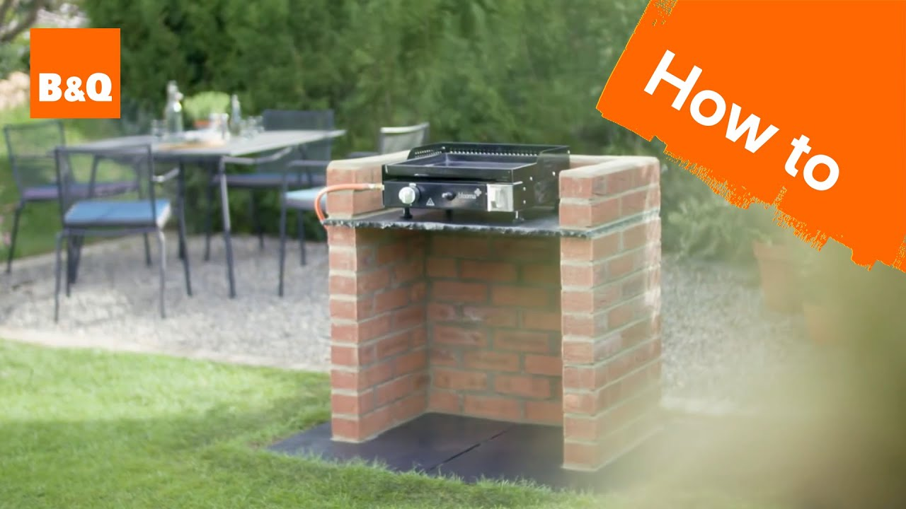 How To Build A Brick Barbecue Platform Youtube