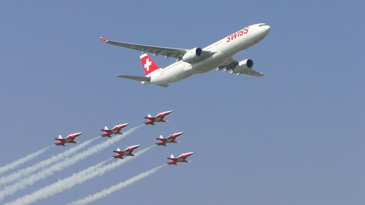 A380 Wallpaper Hd Air14 Payerne Patrouille Suisse Amp Airbus A330 Youtube