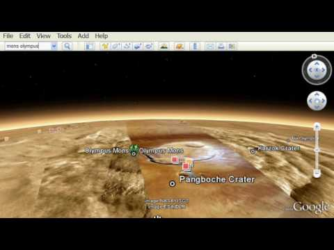 Google Earth 5 - 3D Mars!