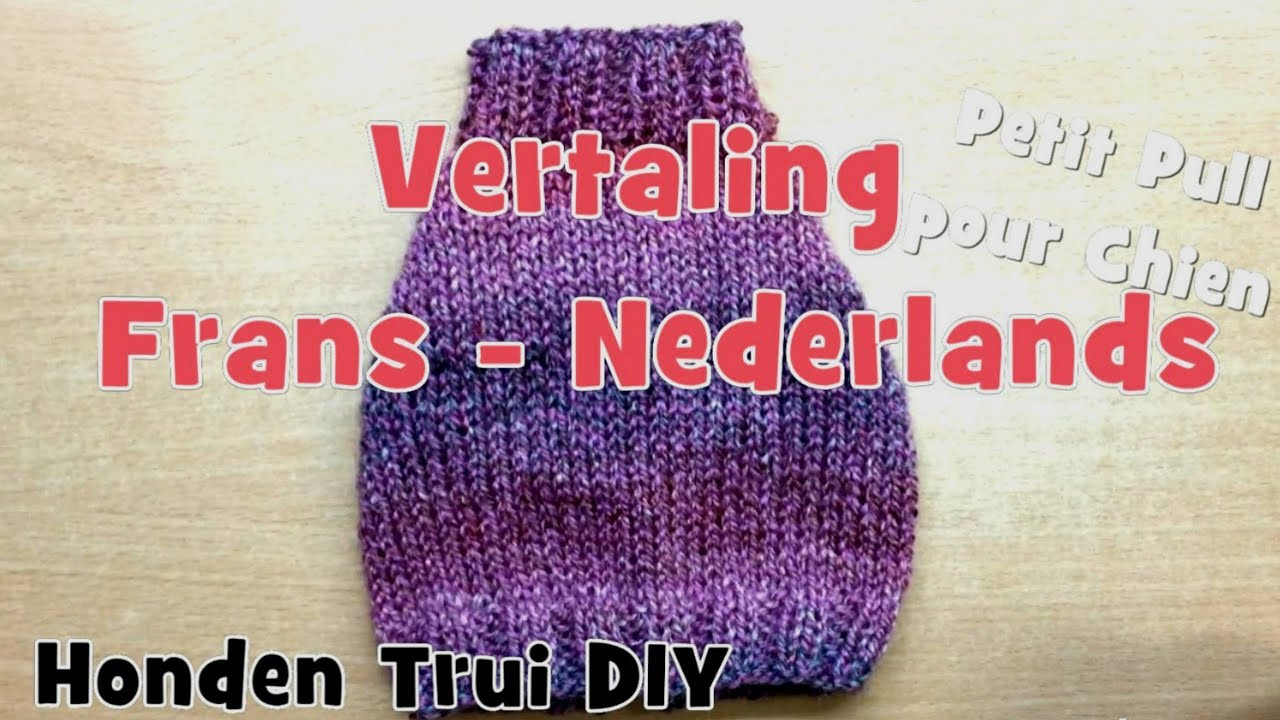 Diy Honden Trui Breien Nederlands Youtube