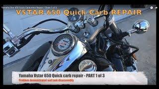 Yamaha Star 650 Quick Carburetor Repair / Clean 1 of 3