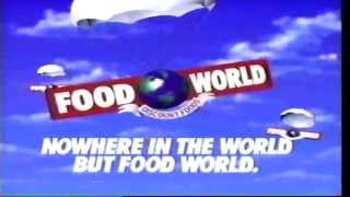 March 1990 Food World Commercial local Nowhere in the world but Food World Thumbnail