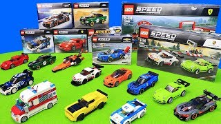 Lego City Toy Unboxing For Kids: Police Cars, Fire Engine, Helicopter, Race Car & Trucks Playsets