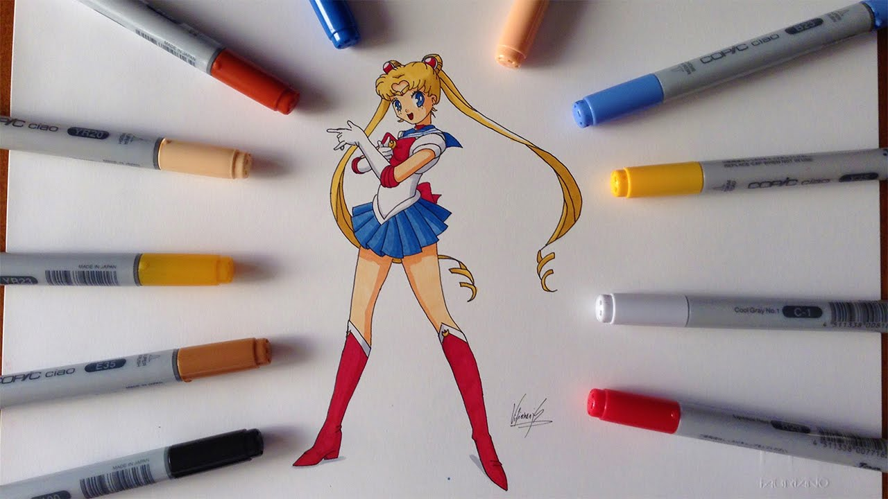 Disegno drawing sailor moon youtube for Disegni inazuma eleven da stampare