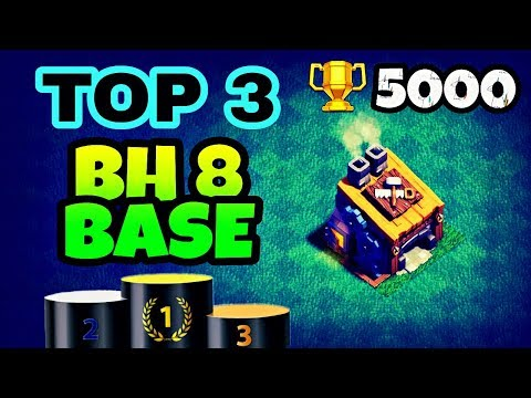 TOP 3 BUILDER HALL 8 BASE LAYOUTS WITH REPLAY | TOP BH8 BEST BASES IN COC | CLASH OF CLANS