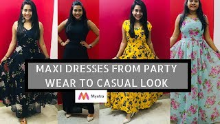 MAXI DRESSES IN TREND🤩- BOUGHT AFFORDABLE MAXI DRESSES || RAKHI SINGH