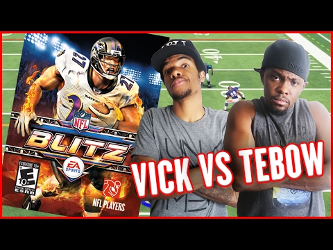 WHOS BETTER? MICHAEL VICK OR TIM TEBOW?? - Blitz Arcade Gameplay | #ThrowbackThursday