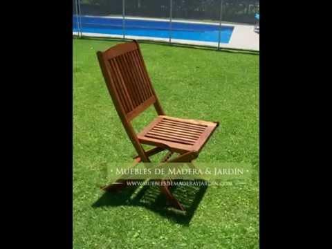 Sillas plegables de jard n muebles de madera y jard n for Muebles jardin plegables
