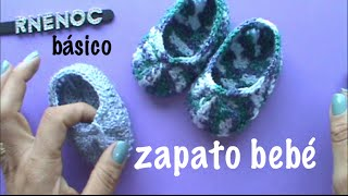 Repeat youtube video ZAPATO PARA BEBE BASICO PUNTO ALTO, #GANCHILLO #CROCHET