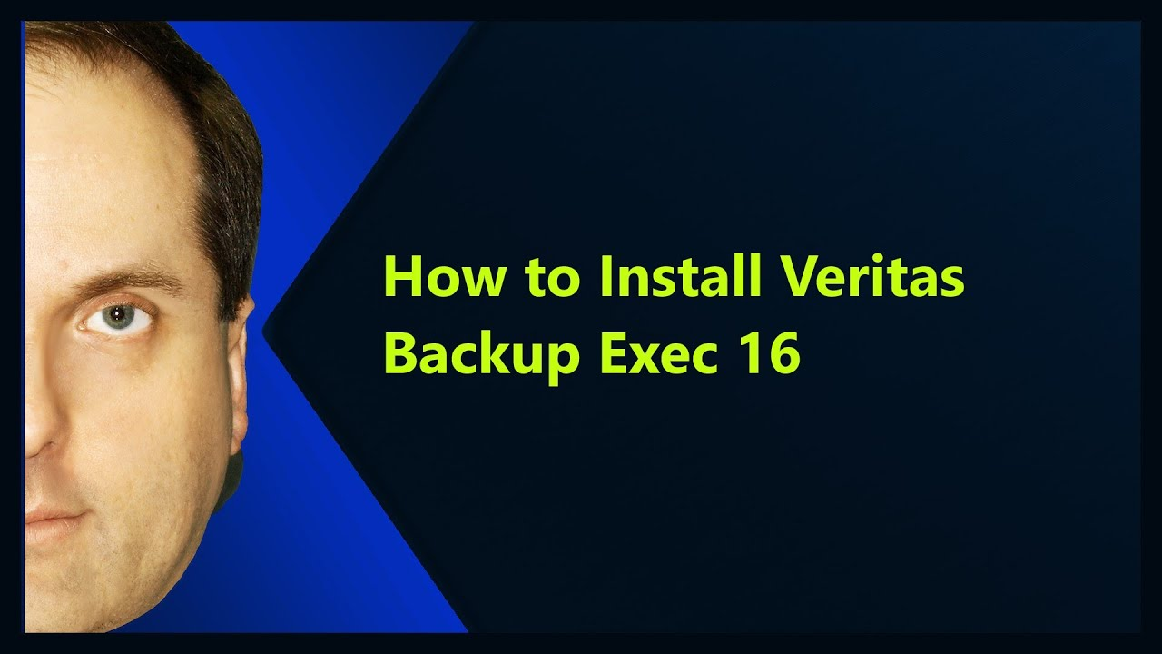 How To Install Veritas Backup Exec 16 Youtube