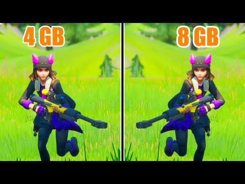Fortnite Chapter 2 4GB RAM VS 8GB RAM
