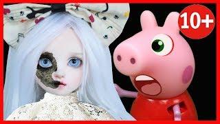 🔴СТРАШИЛКИ НА НОЧЬ ОТ ПАПЫ живая кукла мультик СТРАШНЫЕ ИСТОРИИ horror pig мультфильм 2018 2021