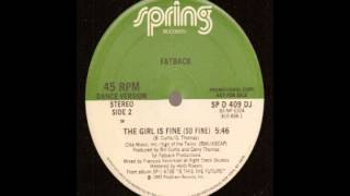 FATBACK - THE GIRL IS FINE - 12inch - 83 - Francois K. Remix