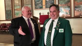 Washington Elks President John Fry speaks with Rick Gathen about membership gains