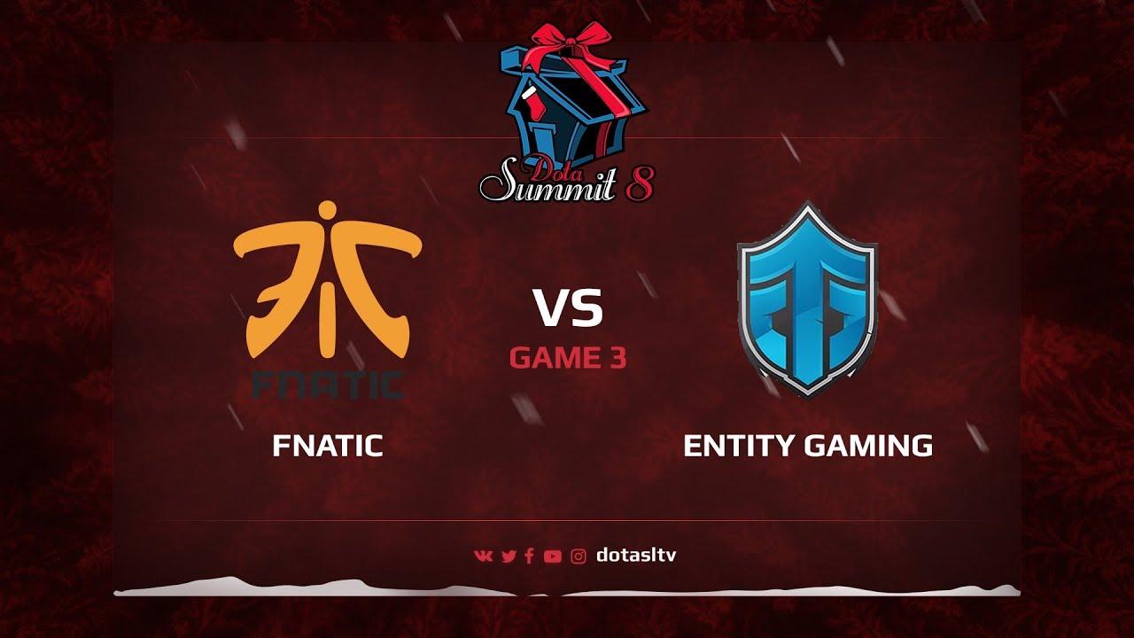 Fnatic против Entity Gaming, Третья карта, Квалификация на Dota Summit 8