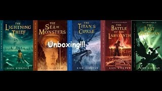 Percy Jackson And The Olympians Series Unboxing