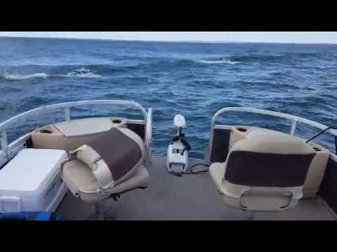Motorguide Xi5 on pontoon in Tampa Bay