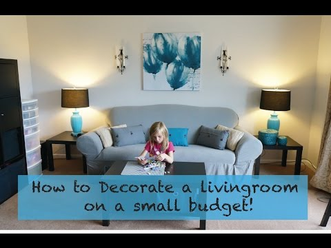 How to decorate a living room on a really small budget!