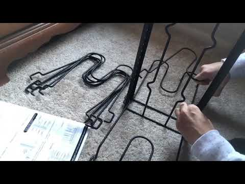 VDOMUS Pan Organizer Rack with 3 DIY Methods, Height Adjustable Kitchen Pan Pot Lid Holder, Black