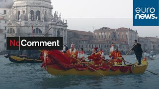 Venice carnival continues with water parade