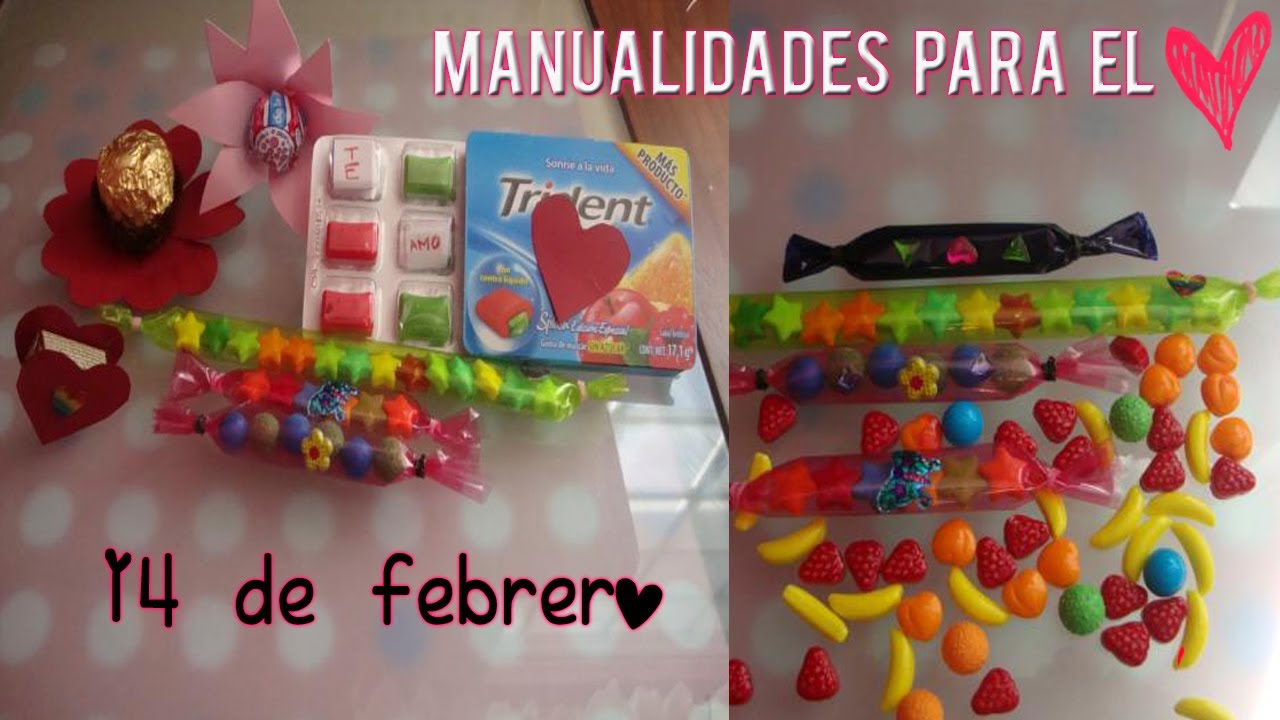 manualidades para el 14 de febrero ♥ - YouTube