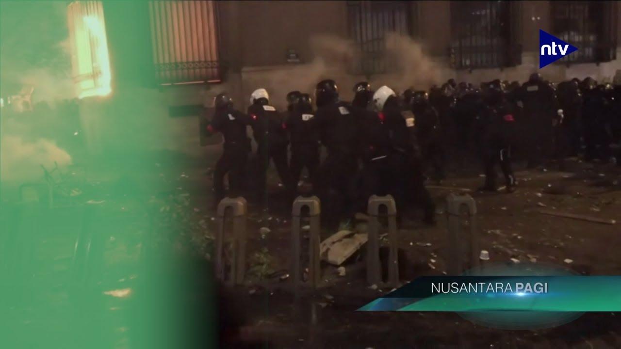 Paris Rusuh, Demonstran Bakar Gedung Bank of France