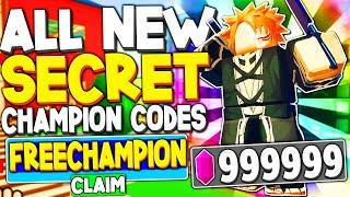 All New *secret Champion* Codes In Anime Fighting Simulator  Roblox Codes