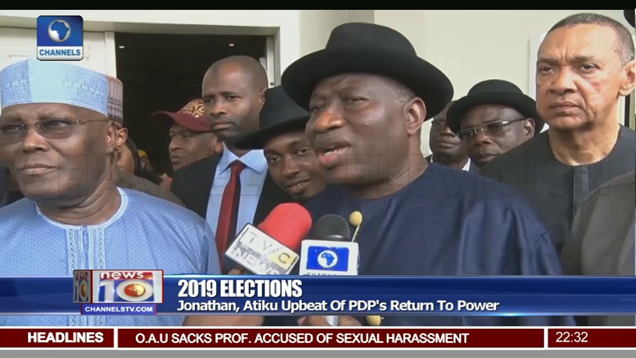 Atiku, Jonathan Optimistic PDP Will Return To Power In 2019