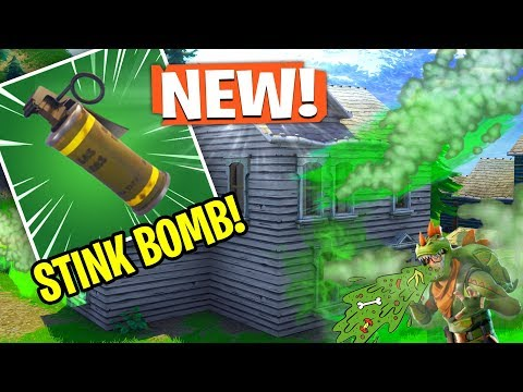 NEW *STINK BOMB* GRENADE In Fortnite! (Fortnite Content Update 4.4)