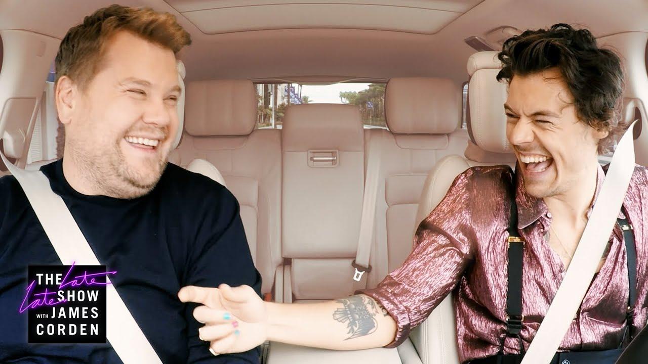 Harry Styles & James Corden Carpool to Work
