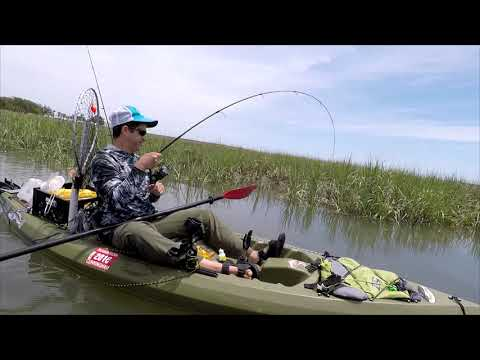 Kayak Fishing High Tide For Redfish And Trout (SURPRISE BIG CATCH)