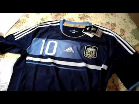 7a54e2138aa Argentina National Team Away Jersey 2011/12 Unboxing, Lionel Messi Jersey.