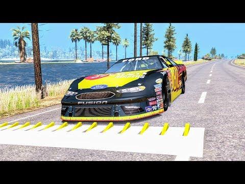 Spike Strip High Speed Crashes #46 – BeamNG Drive | CrashBoomPunk
