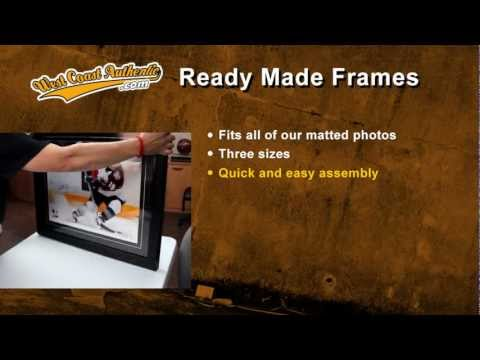 Ready Made Frames for your autographed memorabilia photos