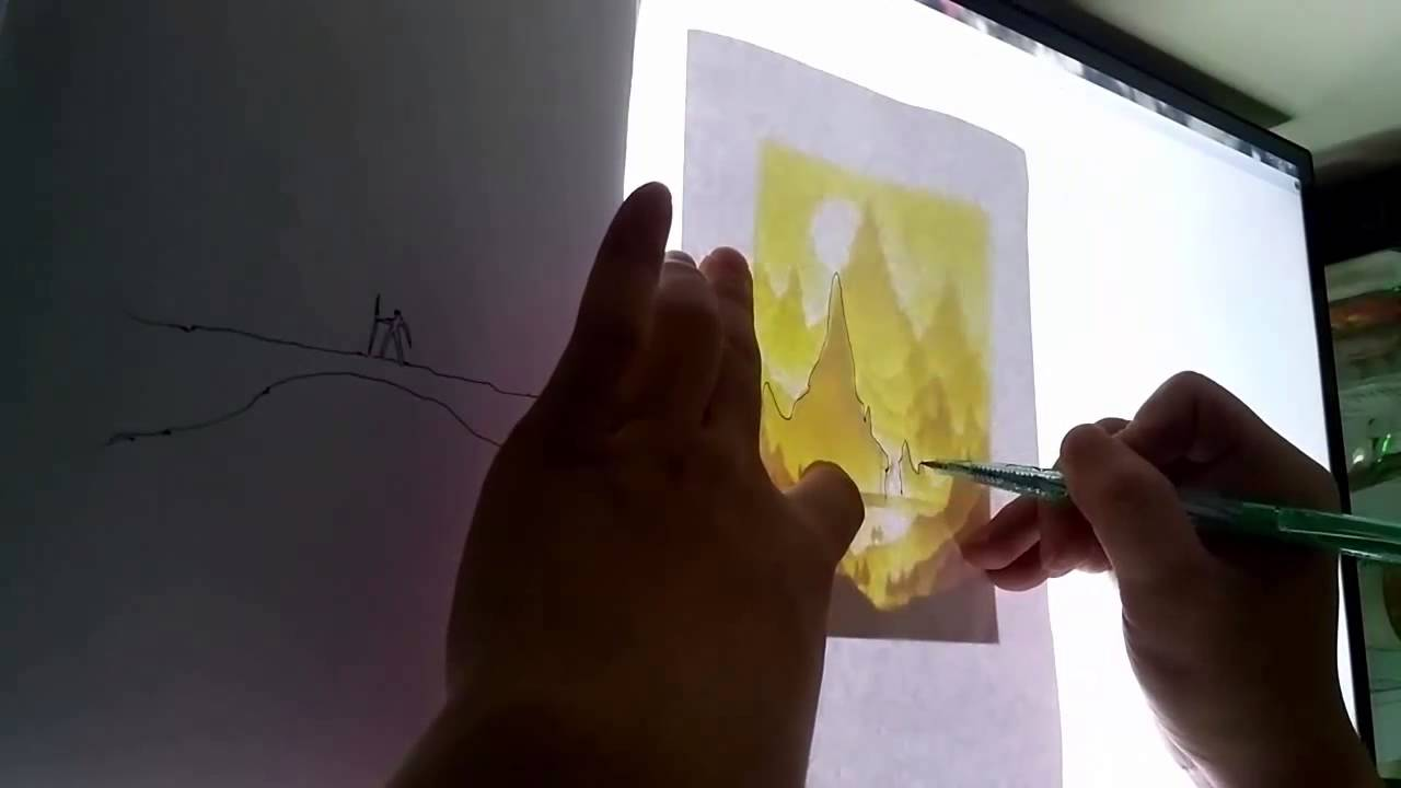 How to make cover paper cut light box youtube for How to make online art